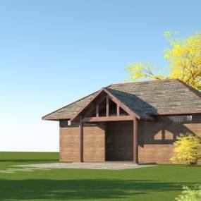 木结构公厕3D模型【ID:146344900】
