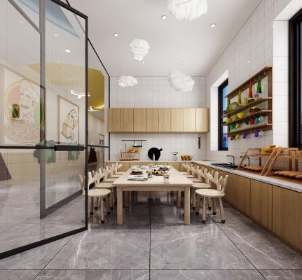 现代幼儿园烘焙室