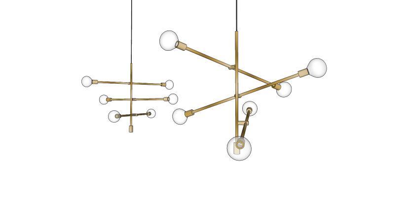 吊燈SU模型【ID:344019830】