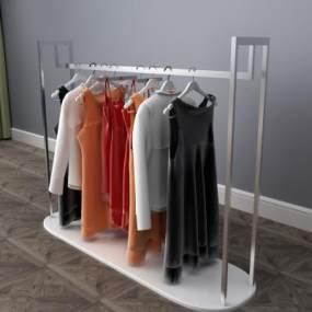 现代衣服衣架衣柜3D模型【ID:131970170】