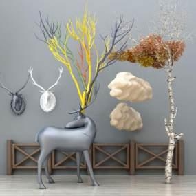 现代雕塑3D模型【ID:230608537】