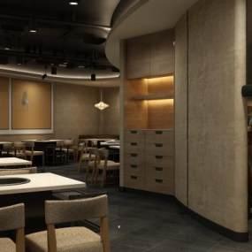 新中式餐厅3D模型【ID:653219200】