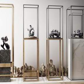 新中式石头工艺品3D模型【ID:230489511】