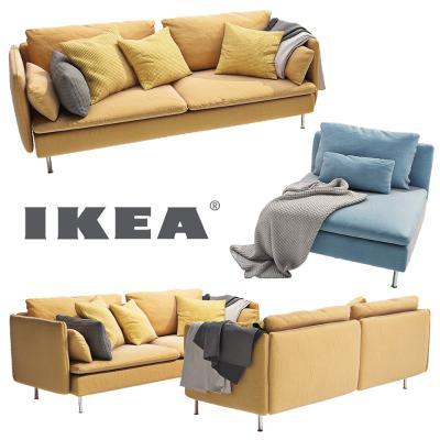 现代布艺沙發组合单人沙發双人沙發国外3D模型【ID:630958724】
