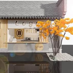 日式炸串店3D模型【ID:150348265】