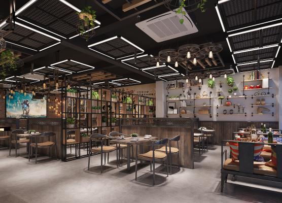 工业风烧烤店 餐厅 咖啡厅