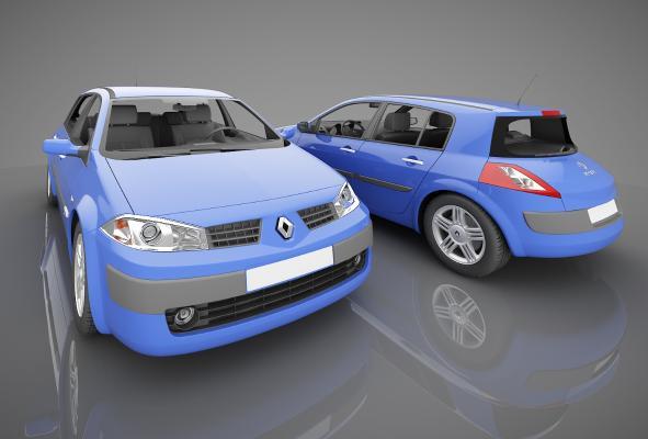 现代风格小汽车3D模型【ID:441842743】