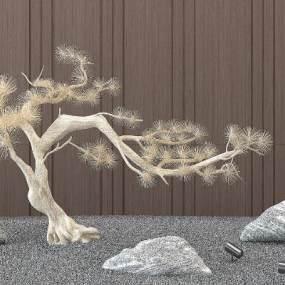 新中式景观植物组合3D模型【ID:253320802】