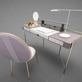 現代風格書桌3D模型【ID:947498024】