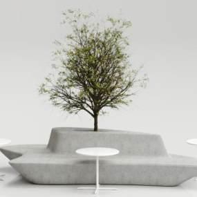 现代户外椅子3D模型【ID:731071509】