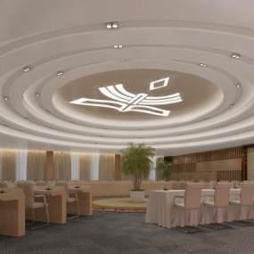现代大型会议室3D模型【ID:944496952】