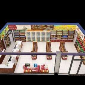 现代便利店3D模型【ID:132695270】