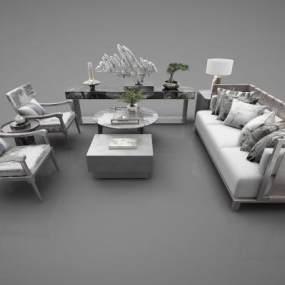 现代风格沙发3D模型【ID:652542700】