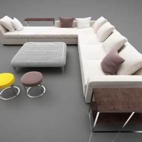 现代风格沙发3D模型【ID:648781787】