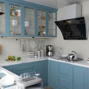 现代厨房3D模型【ID:534708365】