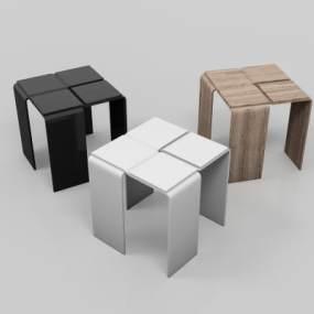 现代休闲凳子3D模型【ID:751173607】