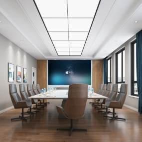现代学校会议室3D模型【ID:950858119】