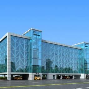 现代立体停车楼停车场车位3D模型【ID:135952991】
