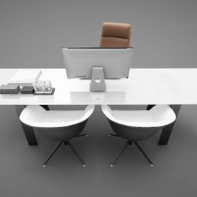 现代风格餐桌3D模型【ID:850603839】
