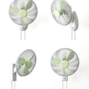 现代壁扇电风扇组合3D模型【ID:235765603】