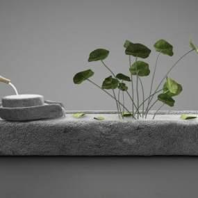 新中式风格景观小品3D模型【ID:244241576】