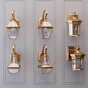 新古典主義壁燈3D模型【ID:753437843】