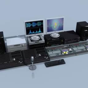 现代录音数码音响设备3D模型【ID:235617775】