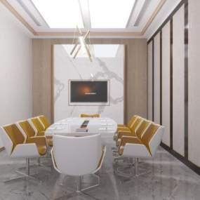 现代简约会议室3D模型【ID:949299190】