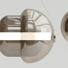 现代玻璃吊灯3D模型【ID:731925876】