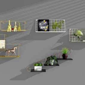 北欧铁艺墙饰3D模型【ID:142483166】