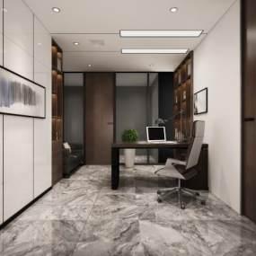 现代中式办公室 3D模型【ID:942112052】