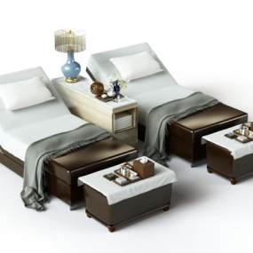 現代按摩床3D模型【ID:846577649】