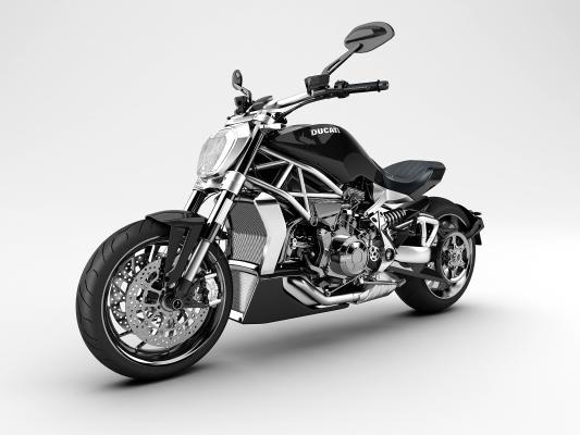 现代摩托车3D模型【ID:436217775】