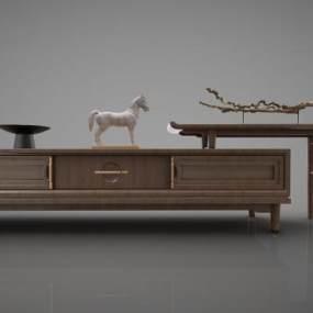 新中式风格装饰柜3D模型【ID:944527928】