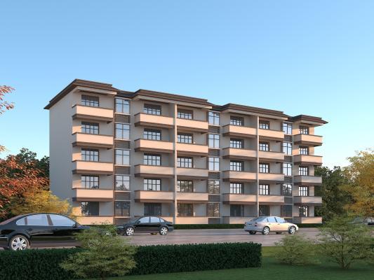 现代多层住宅楼3D模型【ID:150820711】