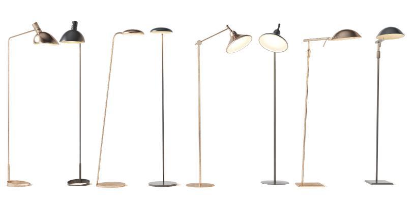 現代金屬落地燈組合3D模型【ID:853013249】