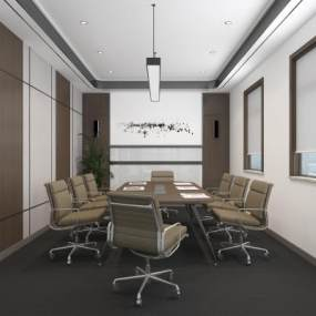 现代会议室3D模型【ID:953519129】