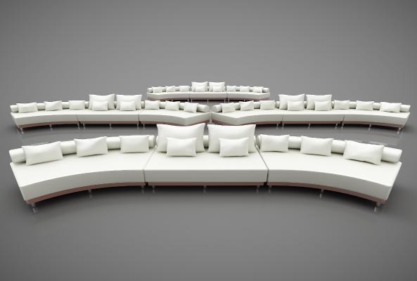 現代風格休閑沙發3D模型【ID:642551696】