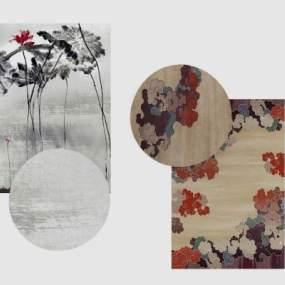 新中式地毯3D模型【ID:331974289】