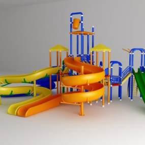 现代户外游乐设施3D模型【ID:335619819】