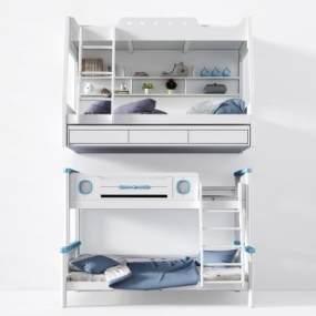 北欧上下床儿童床3D模型【ID:930629065】