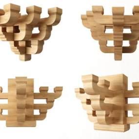 新中式古建筑斗拱构件3D模型【ID:335764483】