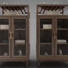 新中式風格裝飾柜3D模型【ID:144527145】