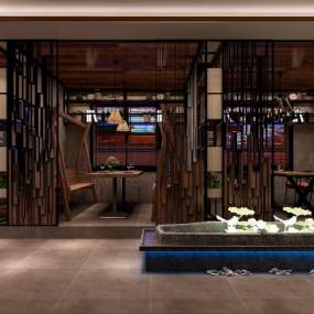 工业风西餐厅3D模型【ID:635451238】