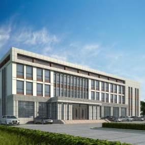 现代办公楼科技楼3D模型【ID:133835932】
