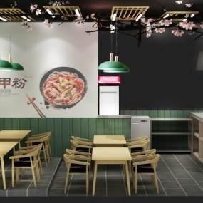 现代小吃店3D模型【ID:147186217】