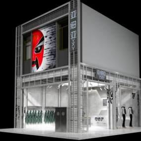 工业风服装店3D模型【ID:135289014】