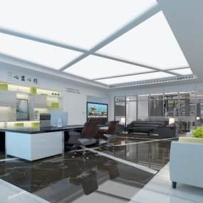 现代办公室3D模型【ID:953264008】