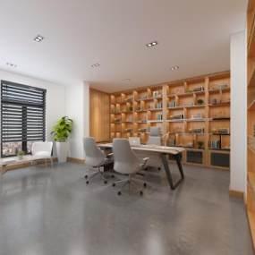 现代简约办公室会议室3D模型【ID:931784064】