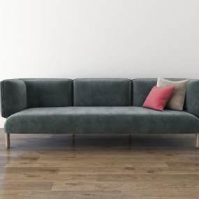 北欧三人沙发3D模型【ID:636216686】